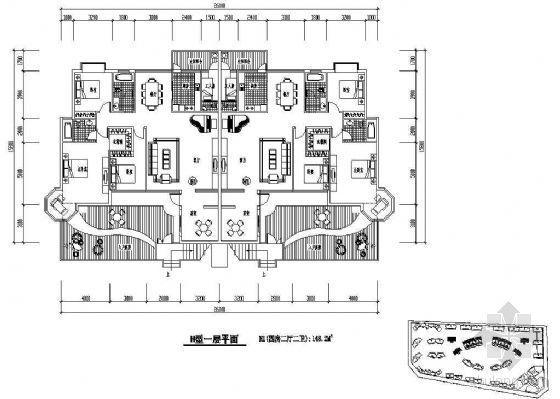 某板式住宅单元组合平面(四)