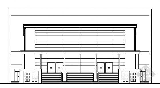 某高中学校报告厅建筑施工图