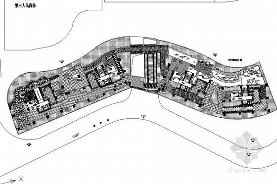 商业大楼屋顶花园景观工程施工图全套