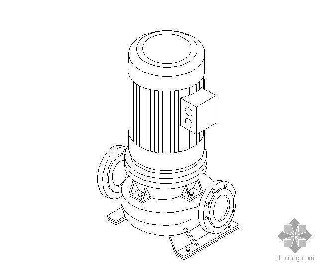 单级离心立式泵轴测图