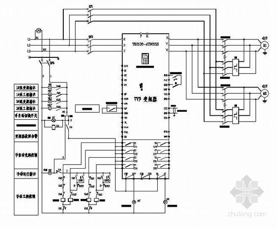 某换热站水泵变频控制原理图