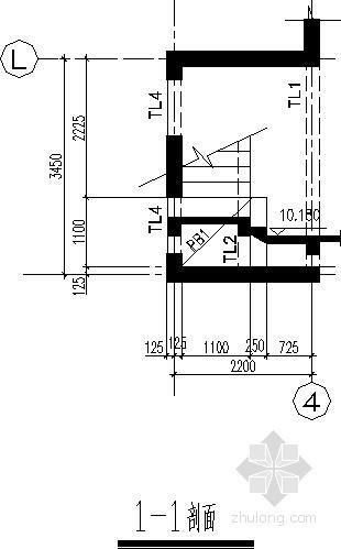 梁式楼梯节点构造详图