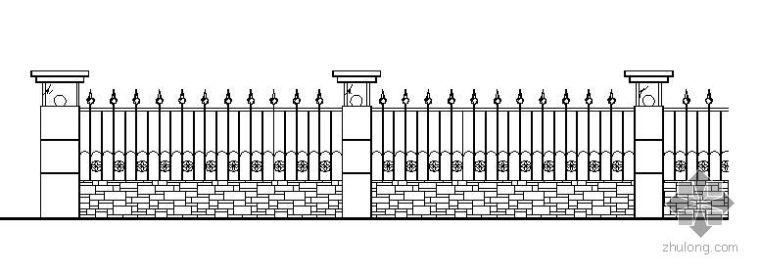 铁艺围栏施工大样图