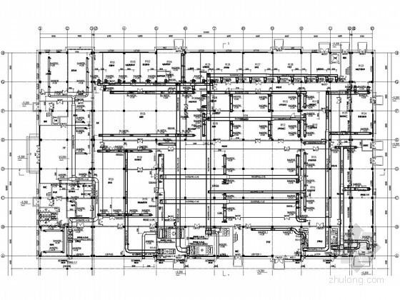 [安徽]大型工业厂房暖通全套设计施工图纸138张(含气体动力设计、净化设计)