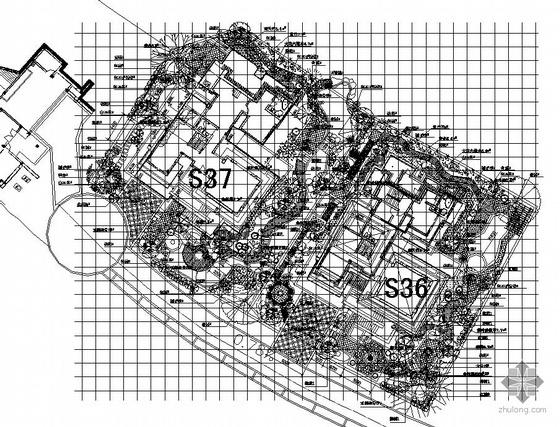 某别墅种植铺装施工图