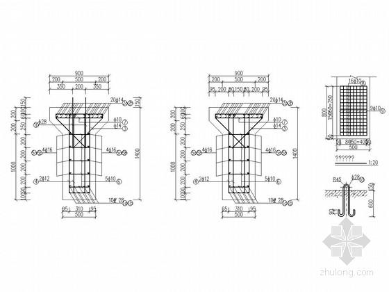 轨道梁GDL1、GDL2配筋图