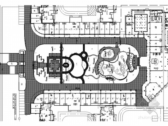 [江苏]城市综合楼前U型公园景观及商业街景观施工图