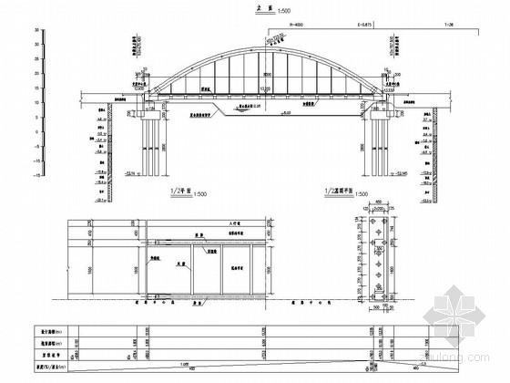 80m下承式钢管砼简支系杆拱桥设计图(58张)