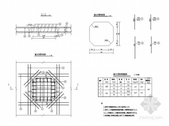 分离式立交连续箱梁桥施工天窗钢筋构造图