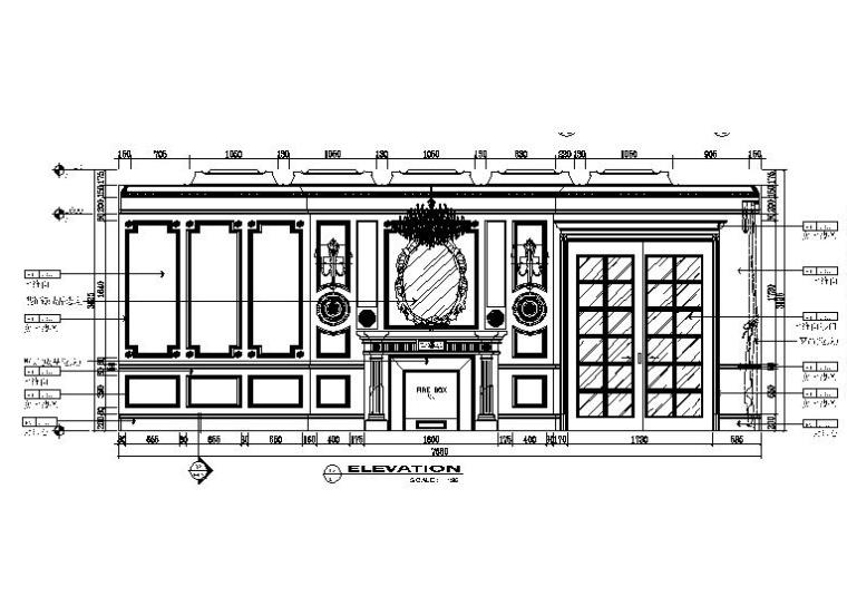 [吉林]经典豪华法式样板房室内设计施工图(含设计方案)_3