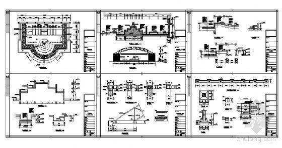 跌水景观施工详图-4