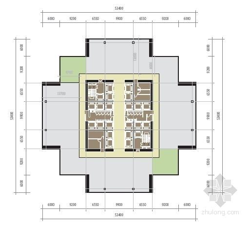 [厦门]超高层立体绿化复合功能城市综合体建筑设计方案文本-超高层立体绿化复合功能城市综合体建筑平面图