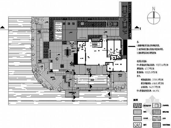 湖边别墅庭院景观设计施工图