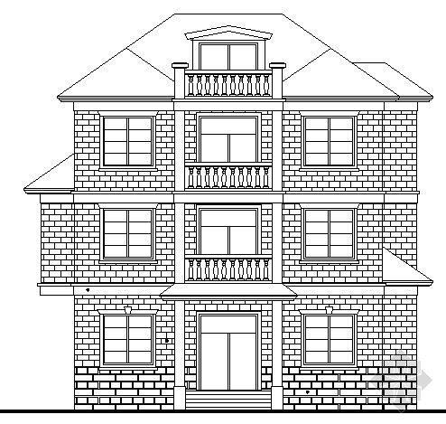 某三层乡村小别墅建筑方案图