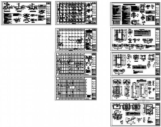 某单建式人防地下室结构设计图