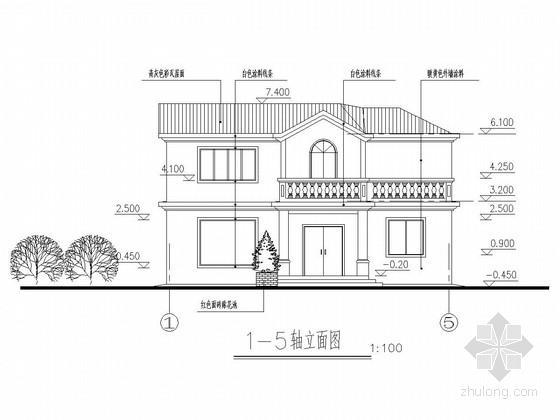 两层钢结构骨架别墅建筑结构全套图
