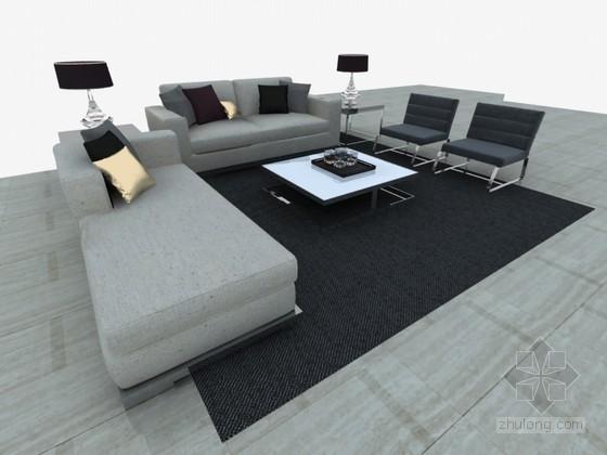 简约沙发3D模型下载
