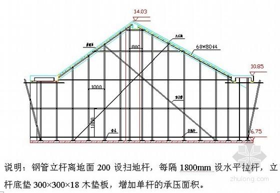 [杭州]斜屋面工程施工方案(高支撑架计算书)