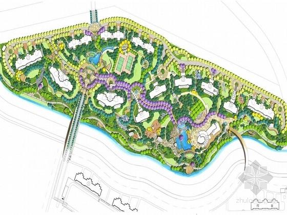 [上海]天然景观河道住宅小区景观设计方案