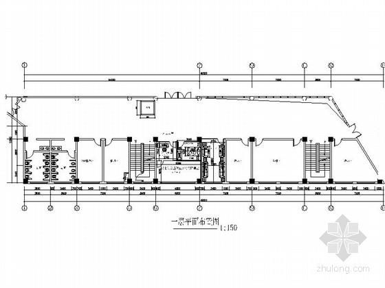 [重庆]开发公司现代风格办公楼室内装修设计改造施工图