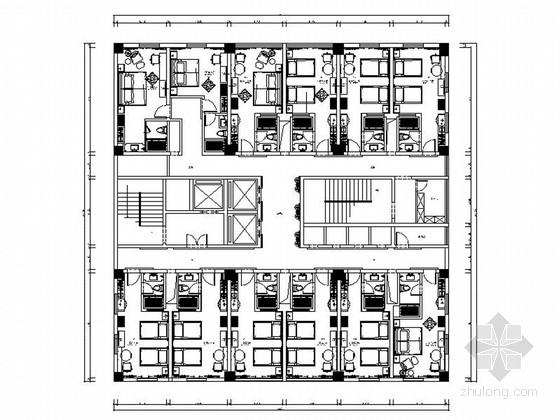 [贵州]高档现代风格度假酒店客房室内设计装修施工图(含效果)