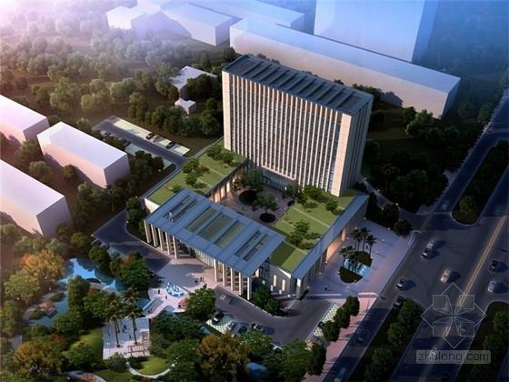 [浙江]现代风格高层办公楼设计方案文本(含3个方案)