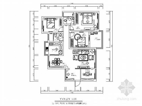 时尚现代简约三居室装修图(含实景图)