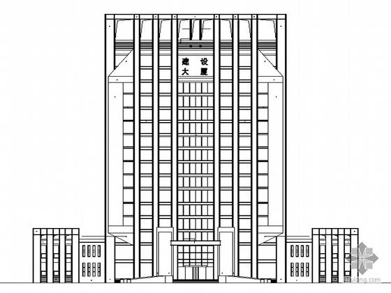 [辽宁省]某市建委十六层办公大楼建筑设计施工图
