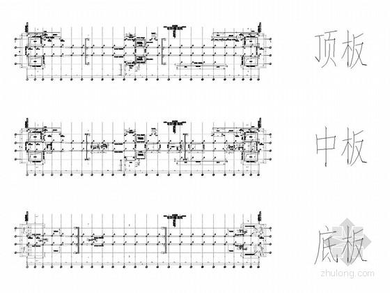 [湖南]两层三跨箱型框架结构车站设计图纸112张(含交通疏解 著名大院设计)