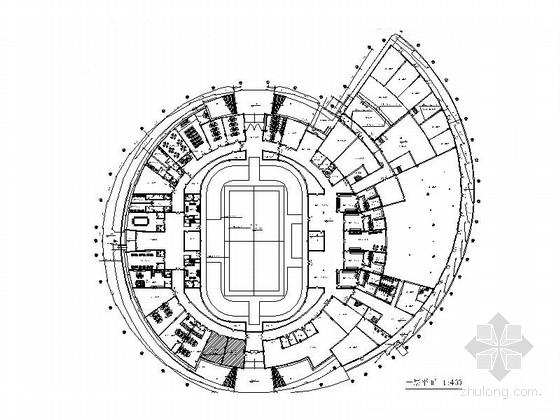 [浙江]恢宏大气三层体育馆装饰设计竣工图(含实景)