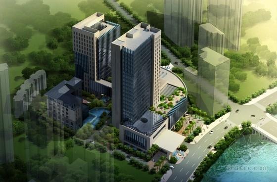 [贵州]22层框架剪力墙结构五星酒店建筑设计方案文本(造型大气典雅)