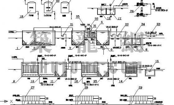 某塑料生产厂废水处理工艺流程图