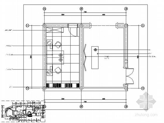 会所现代风格门厅室内装修施工图