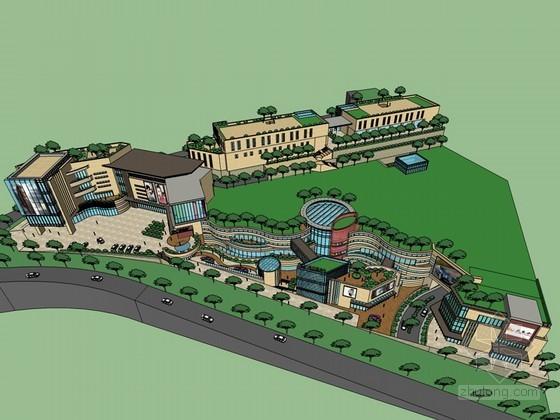 现代时尚建筑SketchUp模型下载