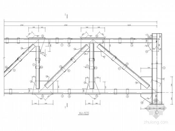煤业公司人行栈桥钢桁架结构施工图