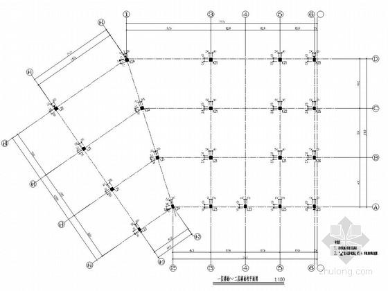 [浙江]地上2层框架结构住宅楼结构施工图