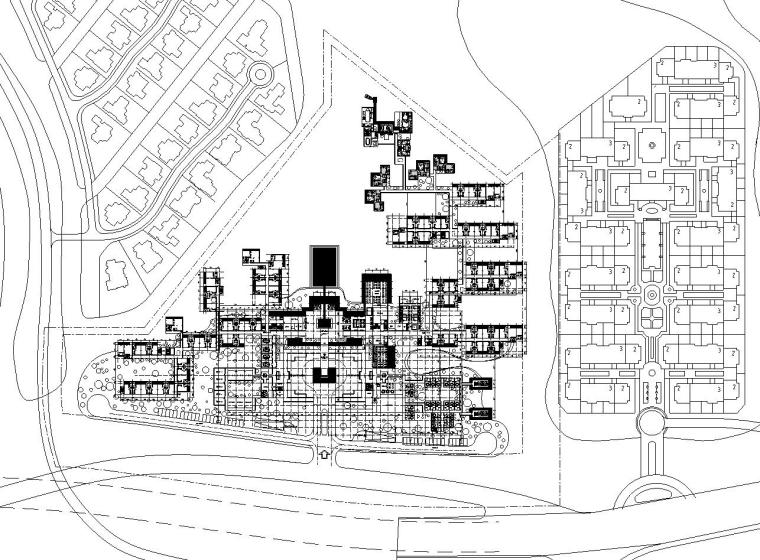 ?[北京]泰禾西府大院中式展示区施工图设计(CAD)