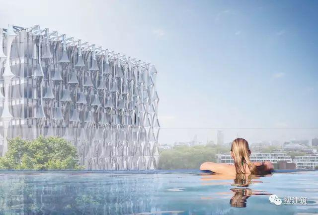 """27米长的""""空中泳池"""",在两栋大楼的第10层连接在一起,中间完全_55"""