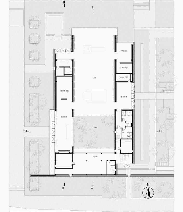 江南壹号院生活体验馆-一层平面图