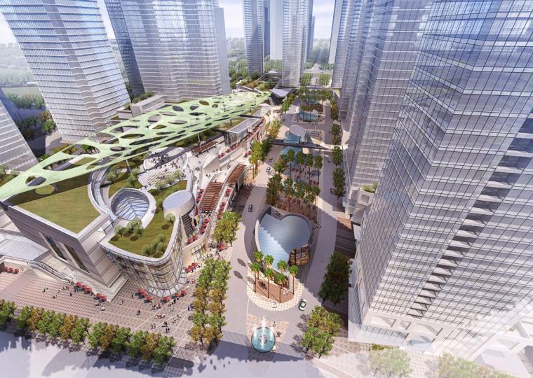 [广东]深圳商业购物中心改造项目建筑设计方案文本