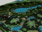 [甘肃]张掖市大型湿地公园景观规划设计su模型