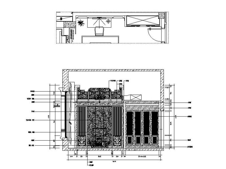 [山西]优雅庄重中式风格别墅室内设计施工图(含效果图)_5