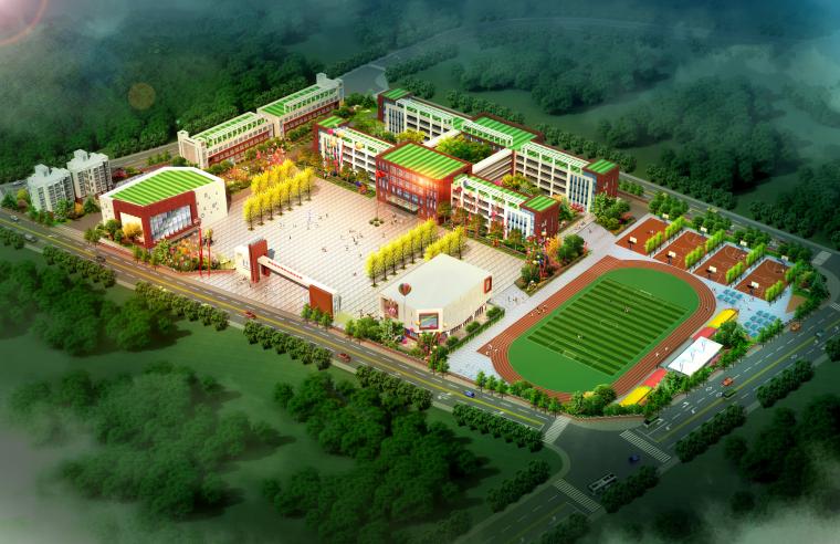 [贵州]36班全日制小学校园总规划及单体建筑设计方案图(JPG)