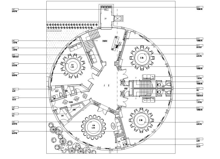 [江苏]南通名都商业街餐饮施工图及效果图