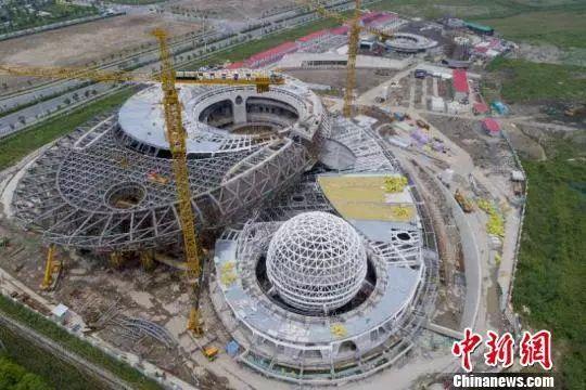 全球最大天文馆主体钢结构工程收尾