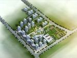 (原创)城市住宅小区设计案例效果图