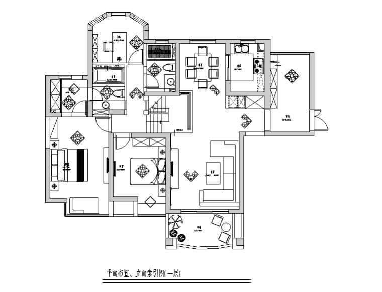 [江西]现代中式风格150平跃层公寓设计施工图(附效果图)