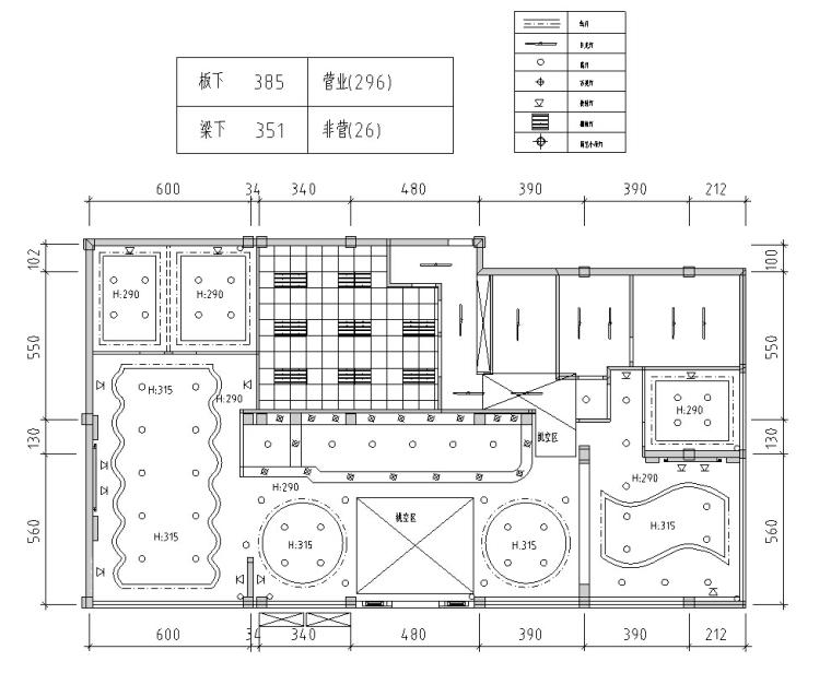上岛咖啡厅建筑设计方案(施工图CAD、室内设计、电力设计)