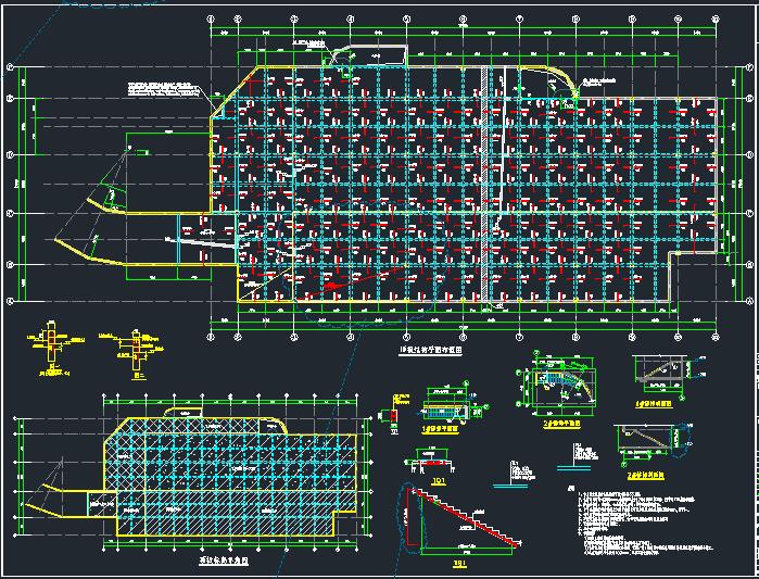 地下单层框架结构独立车库结构施工图_1