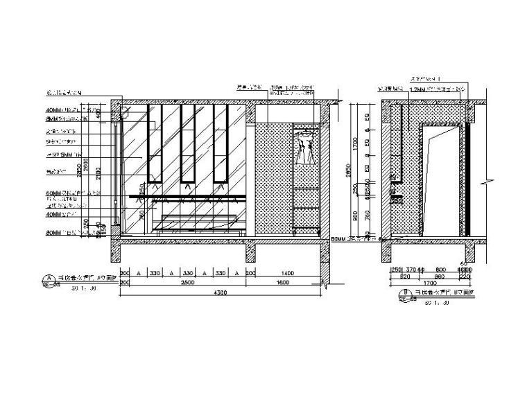 【广东】现代风格复式样板房CAD施工图(含效果图)_7